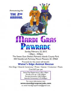 Mardi Gras Pawrade Charleston SC 2015